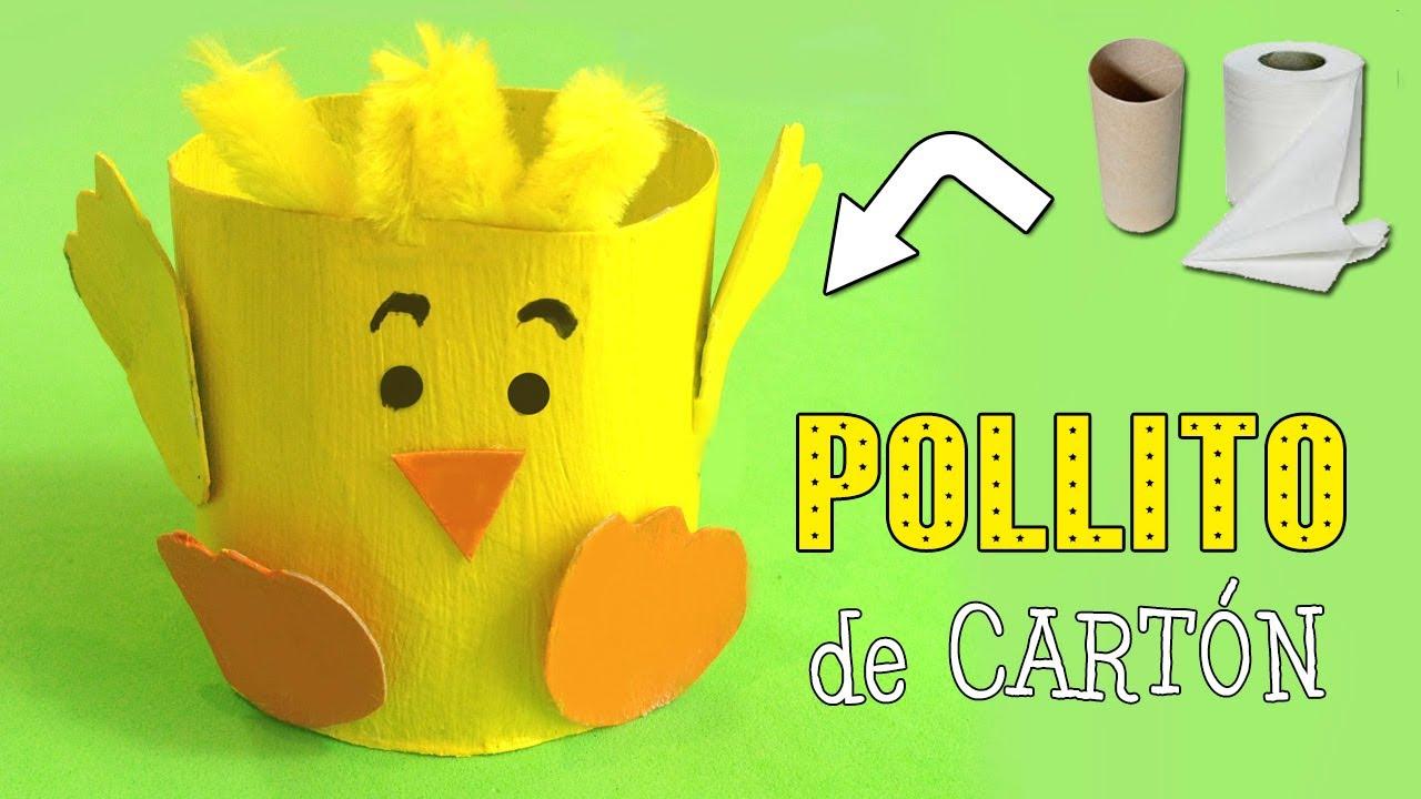 Pollito de cartón | Manualidades con Reciclaje - YouTube