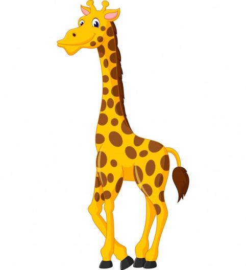 Descripción: Cute jirafa de dibujos animados | Vector Premium
